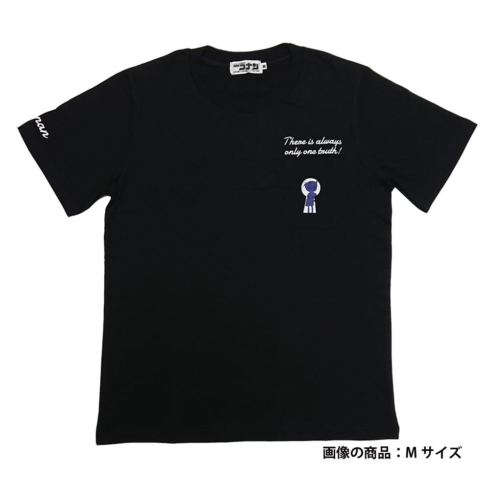 コナンポケット付半袖Tシャツ ブラック M(鍵穴コナン)