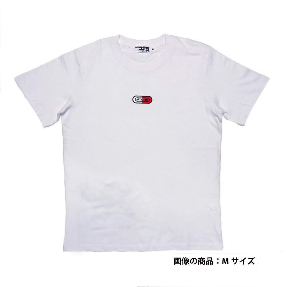 APTX刺繍半袖Tシャツ ホワイト M